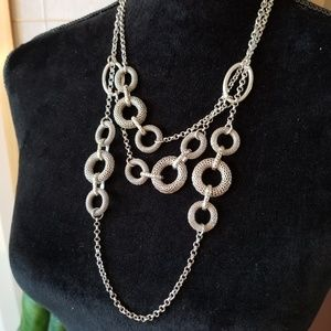 Antiqued Silver Statement Necklace
